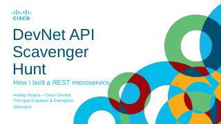 API Scavenger Hunt