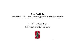 AppSwitch: Application-layer Load Balancing w...