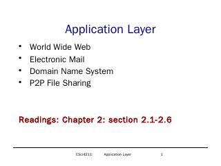 Application Layer - CSE Labs User Home Pages