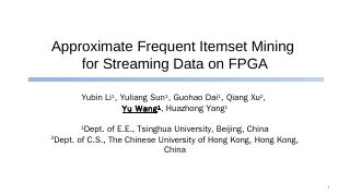 Approximate Frequent Itemset Mining for Strea...