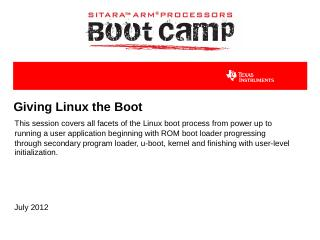ARM MPU Linux Boot Process - TI Training