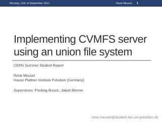 aufs + cvmfs - CERN Indico