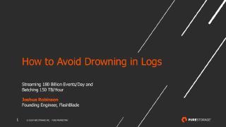 avoiding log data overload in a ci cd system ...