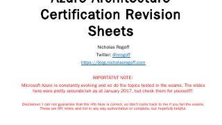Azure Architecture Help Sheets - Nicholas Rog...