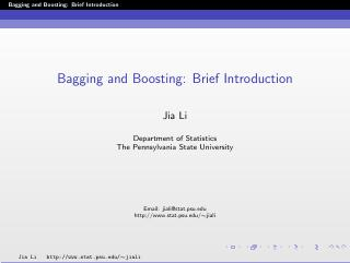 bagging and boosting: brief introduction