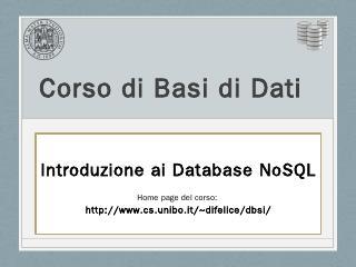 Basi di Dati e Sistemi Informativi - Unibo