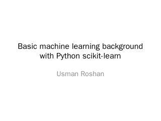 Basic machine learning background with Python...