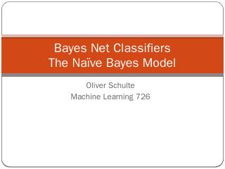 Bayes Net Classifiers.