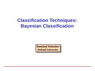 Bayesian Classification - DePaul University