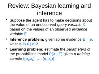 Bayesian networks - UNC Computer Science