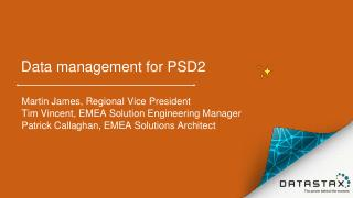 Become PSD2 ready with DataStax