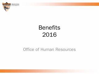 Benefits 2016 - Princeton University