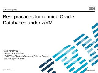 Best practices for running Oracle Databases u...