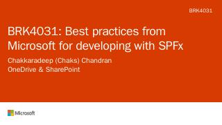 Best practices from Microsoft for developing ...