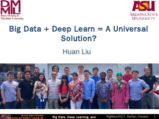Big Data and Deep Learning Big data - Arizona...