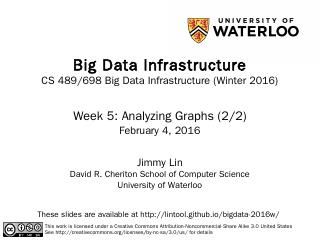 Big Data Infrastructure - GitHub Pages