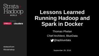 Big Data on Docker: Key Takeaways