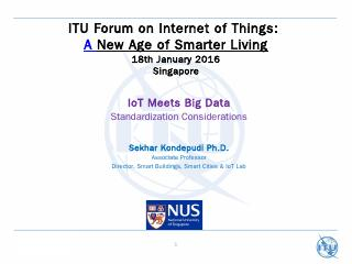 BIG DATA or IoT - ITU