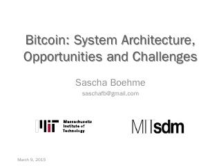 Bitcoin - MIT SDM