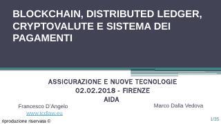 Blockchain, Distributed Ledger, Cryptovalute ...