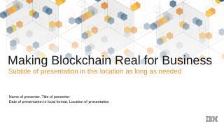 Blockchain - IBM