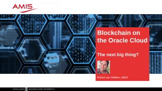 Blockchain On The Oracle Cloud - RainFocus