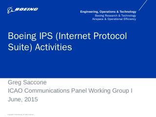 Boeing IPS Activities - ICAO