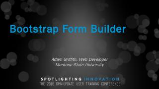 Bootstrap Form Builder - Montana State Univer...