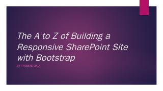 Bootstrap - SharePoint Saturday
