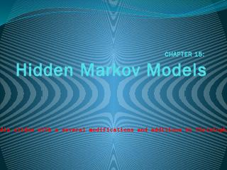 Brief Introduction to Hidden Markov Models