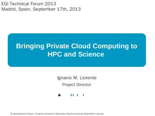 Bringing Private Cloud Computing to HPC and S...