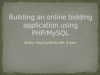 PHP + MySQL构建在线竞拍程序
