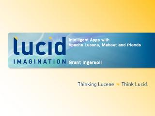 Building Intelligent Apps with Apache Lucene,...