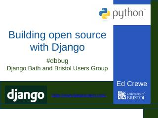 Building open source with Django - Meetup
