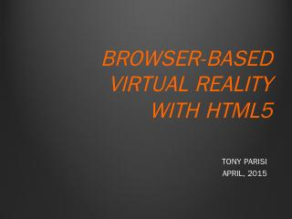 building rich internet applications with HTML...