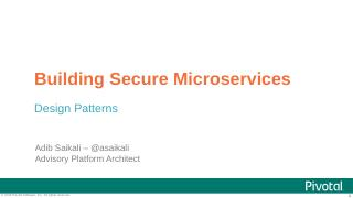 Building Secure Microservices