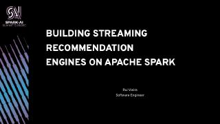 building streaming recommendation engines on ...