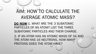 Calculating Average Atomic Mass.pptx