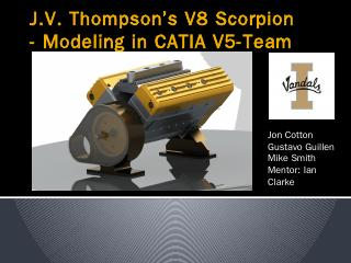 CATIA V8 Scorpion Engine Report