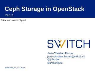 Ceph Storage in OpenStack - CERN Indico