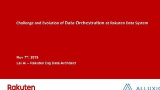 Challenge and evolution of data orchestration...