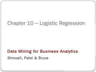 Chapter 8  Logistic Regression - UTC.edu