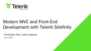 Chicago MVC and Front end dev - Sitefinity