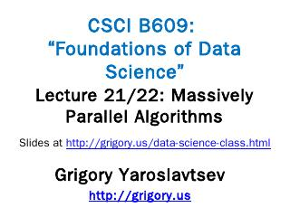 CIS 700: algorithms for Big Data - Grigory Ya...
