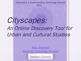Cityscapes: An Online Discovery Tool for Urba...