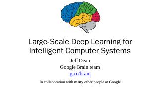 Large-Scale Deep Learning for Intelligent Com...