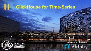 Clickhouse for Timeseries