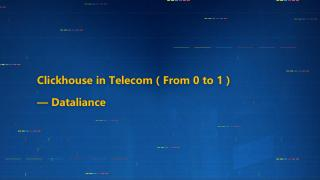 ClickHouse in Telecom