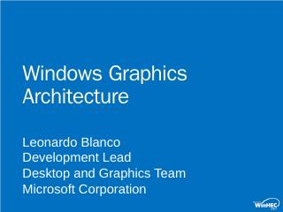 CLN-T361 Windows Graphics Architecture - Micr...