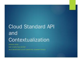 Cloud API - Indico@IHEP